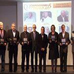 No aniversário da Fecoagro foram homenageados também os entrevistados do primeiro programa Cooperativismo em Notícia (Foto: Fecoagro/SC)