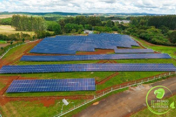 Premiação reconhece ideia inovadora e de preocupação ambiental da cooperativa com a construção da Usina de Energia Solar