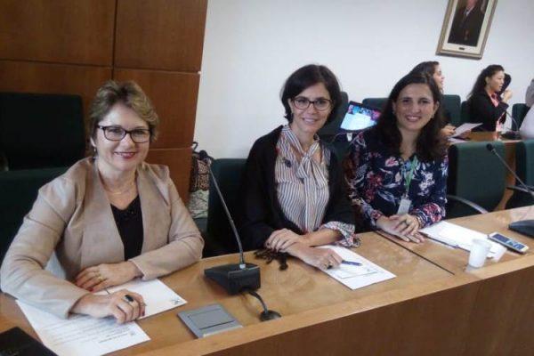 Astrid, Tatiana e Nayana representaram o Sistema Faesc/Senar-SC