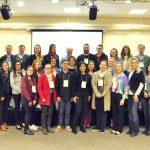 Grupo de participantes do Encontro de Comunicadores das Cooperativas do Estado de Santa Catarina